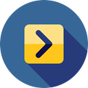 Arrows, next, skip, Direction, ui, directional, Multimedia Option SteelBlue icon
