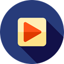 movie, Multimedia, Arrows, play, music player, ui, Play button, video player, Multimedia Option DarkSlateBlue icon