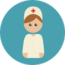 user, woman, Healthcare And Medical, Professions And Jobs, Avatar, hospital, Nurse, Medical Assistance CadetBlue icon