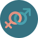 Femenine, Genders, Shapes And Symbols, symbol, venus, signs, Masculine, male, Female, woman, Girl, Gender, mars, Man SeaGreen icon