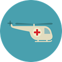 Chopper, Aircraft, Healthcare And Medical, transport, flight, emergency, Helicopter, transportation CadetBlue icon