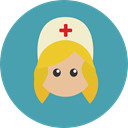 hospital, Nurse, Medical Assistance, Healthcare And Medical, user, woman, Avatar, Professions And Jobs CadetBlue icon