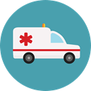 medical, transportation, transport, vehicle, Ambulance, emergency, Automobile, Healthcare And Medical CadetBlue icon