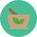 medical, education, medicine, chemical, health, Mortar, Pestle, Grinding, Healthcare And Medical CadetBlue icon