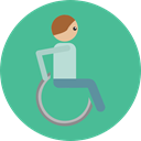 wheelchair, medical, Disabled, transport, handicap, Healthcare And Medical CadetBlue icon