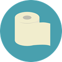 miscellaneous, bathroom, toilet paper, hygiene, Healthcare And Medical CadetBlue icon