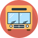 Automobile, Public transport, transport, vehicle, Bus, school bus, transportation IndianRed icon