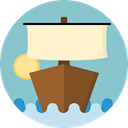 sailing, transportation, Boat, transport, sail, Sailboat, Boats SkyBlue icon