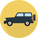 Car, transportation, transport, vehicle, jeep, Automobile SandyBrown icon