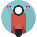 transportation, transport, Motorbike, Vespa, Motorcycle, Scooter SkyBlue icon