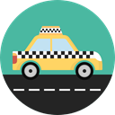 Car, transportation, transport, vehicle, taxi, Automobile CadetBlue icon