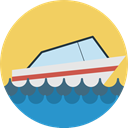 transportation, Yacht, Ships, Boat, transport, ship, Cruise SandyBrown icon