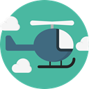 transportation, transport, flight, emergency, Helicopter, Chopper, Aircraft CadetBlue icon