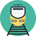 transport, street, train, rails, travelling, transportation, travel Icon