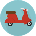 Motorcycle, Scooter, transportation, transport, Motorbike, Vespa SkyBlue icon