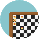 Sports And Competition, Game, chess, strategy, sport, Chess Board SkyBlue icon
