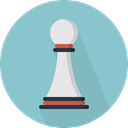 Game, chess, strategy, sport, pawn, Sports And Competition SkyBlue icon