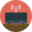 internet, Connection, Modem, wireless, wi-fi, technology, electronics, networking, Communications IndianRed icon