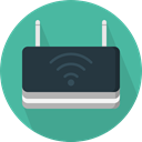 Communications, wi-fi, technology, electronics, networking, internet, Connection, Modem, wireless CadetBlue icon