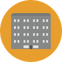town, buildings, real estate, urban, Architectonic, Office Block, office, Building, city Goldenrod icon