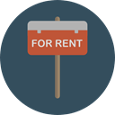 Business, signal, commerce, symbol, Commercial, signs, real estate, signals, hanging, Signaling, For Rent DarkSlateGray icon