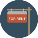 Business, signal, commerce, symbol, Commercial, hanging, Signaling, For Rent, signs, real estate, signals DarkSlateGray icon
