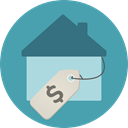 Home, house, property, real estate, For Sale CadetBlue icon