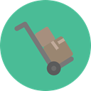Cart, trolley, Delivery, deliver, items, Delivery Cart, Shipping And Delivery CadetBlue icon