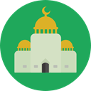 Architecture, islam, islamic, religion, buildings, Mosque, Monuments SeaGreen icon