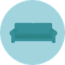 furniture, sofa, couch, Rest, relax, Furniture And Household LightBlue icon