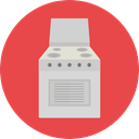 Gas, kitchen, Cooking, Stove, kitchenware, Tools And Utensils, Furniture And Household Tomato icon