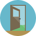 Access, Door, doorway, real estate, Exit Door, Furniture And Household MediumAquamarine icon