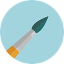 Art, Painting, Brushes, Painter, paint brush, Art And Design, Artist, Tools And Utensils, Edit Tools LightBlue icon