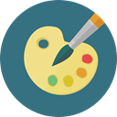 interface, Artistic, Painter, Artist, palette, Art, Painting, Edit Tools, Paint Palette, Art And Design SeaGreen icon