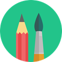Painter, pencils, paint brush, Edit Tools, pencil, Art, Painting, Artistic LightSeaGreen icon