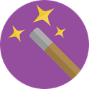 wizard, witch, magician, Edit Tools, magic wand, Tools And Utensils, Witchcraft DarkOrchid icon