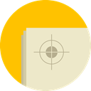 Aim, Target, shooting, sniper, weapons, Edit Tools BlanchedAlmond icon