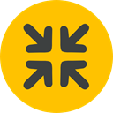 Arrows, Orientation, interface, Direction, minimize, Multimedia Option Gold icon