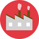 Industrial, pollution, Contamination, industry, landscape, buildings, Factory Crimson icon