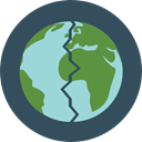 planet, plant, nature, leaves, ecology, Planet Earth, Earth Globe, Ecologic, Maps And Location, Ecology And Environment DarkSlateGray icon