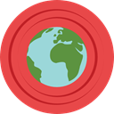 Earth Globe, Ecologic, Maps And Location, Ecology And Environment, nature, leaves, ecology, Planet Earth, planet, plant Tomato icon
