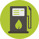 Energy, gas station, Ecological, Ecology And Environment, fuel, petrol, gasoline YellowGreen icon
