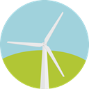 technology, Windmill, Windmills, Eolian, Ecology And Environment, mill, ecology, Ecological, Ecologic LightBlue icon