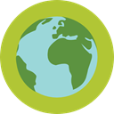 nature, leaves, ecology, Planet Earth, Earth Globe, Ecologic, Maps And Location, Ecology And Environment, planet, plant YellowGreen icon