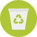 recycle bin, Trash, Ecology And Environment, Garbage, Can, recycling, Tools And Utensils YellowGreen icon