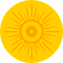 sun, weather, nature, Sunny, warm, summer, meteorology, Summertime Gold icon