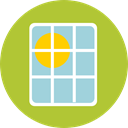 green energy, Ecological, Solar Panel, power, sun, Ecology And Environment YellowGreen icon