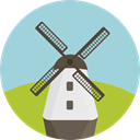 nature, buildings, Windmill, mill, ecology, Ecological, Ecology And Environment LightBlue icon