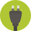 electronics, Socket, plug, technology, electronic YellowGreen icon