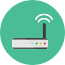 internet, Connection, Modem, wireless, wi-fi, technology, electronics, networking CadetBlue icon